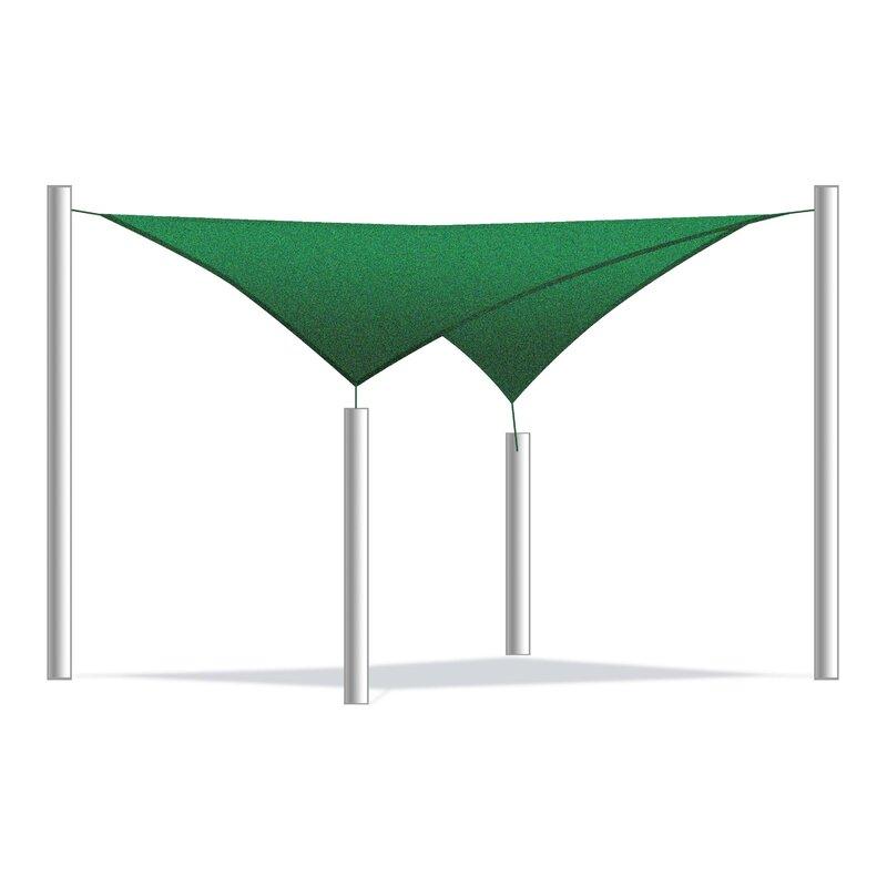 ALEKO 12 Shade Sail  Color: Green