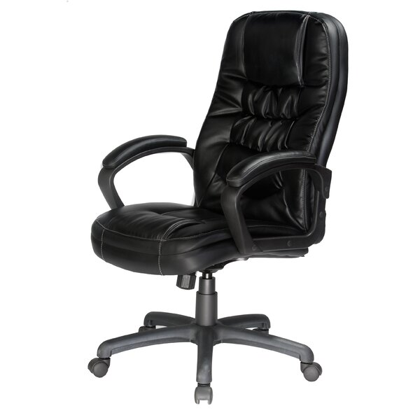 Comfort Products Mid Back Leather Desk Chair U0026 Reviews | Wayfair