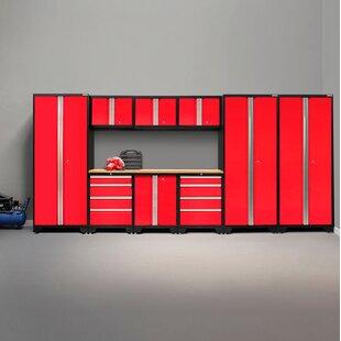 Bold 3 0 Series 10 Piece Garage Storage Cabinet Set With Worktop