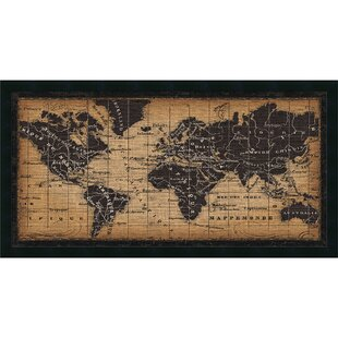 World map cork board wayfair old world map framed graphic art gumiabroncs Image collections