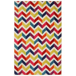 Rory Red/Yellow Area Rug