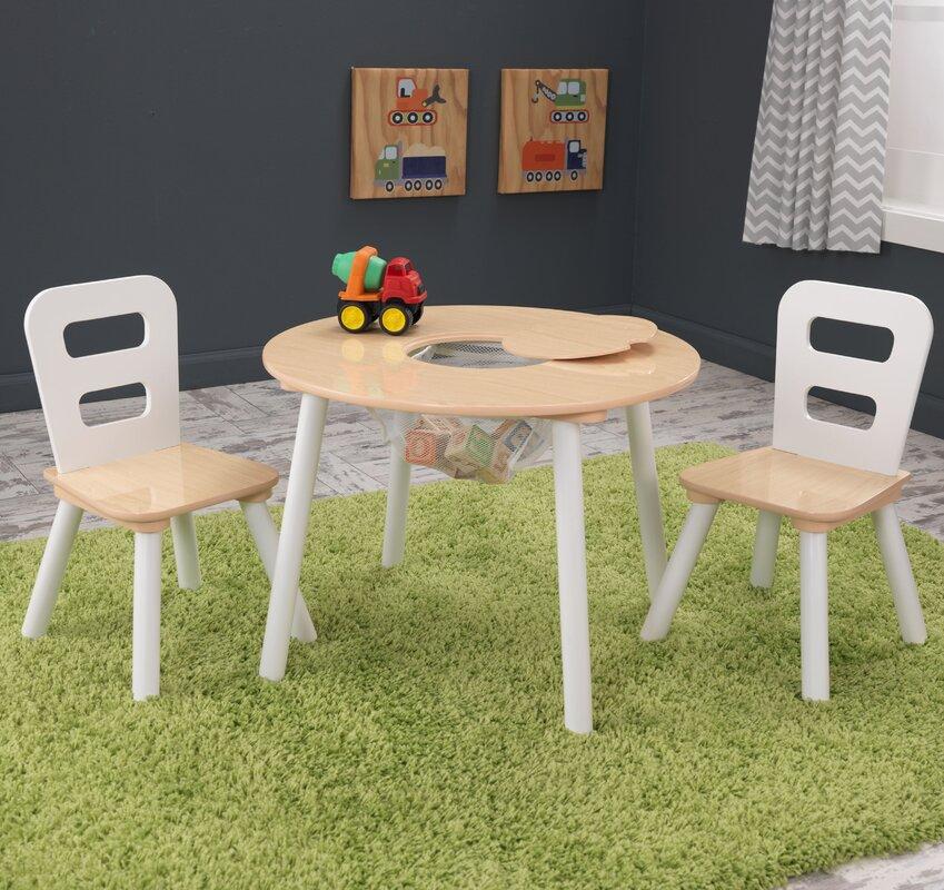 KidKraft Kid\'s 3 Piece Round Table and Chair Set & Reviews | Wayfair