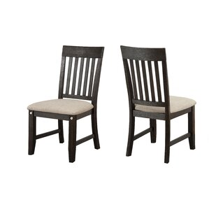 Ilana Solid Wood Dining Chair (Set of 2) by Loon Peak