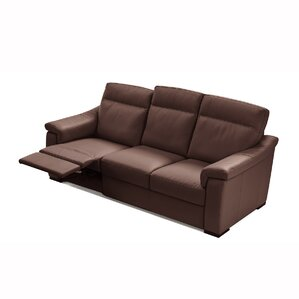 State Line Leather Reclining Sofa by Latitude Run