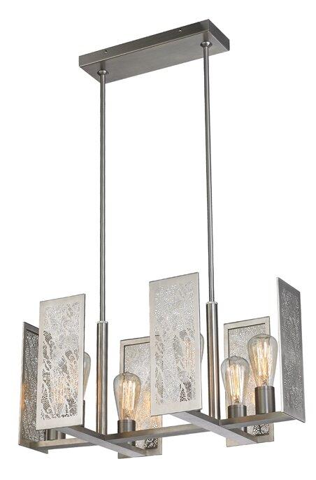 Tessa 6 light suspension kitchen island pendant