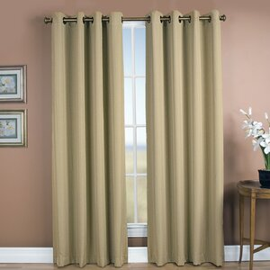 Johnson Village Striped Blackout Grommet Single Curtain Panel