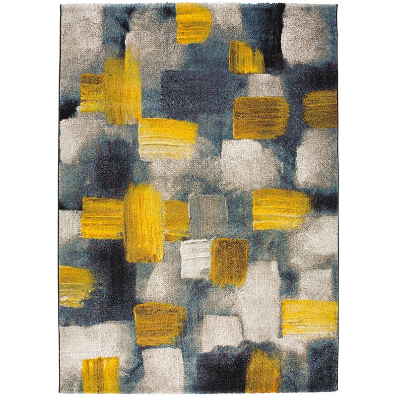 Mustard And Grey Rug Uniquely Modern Rugs
