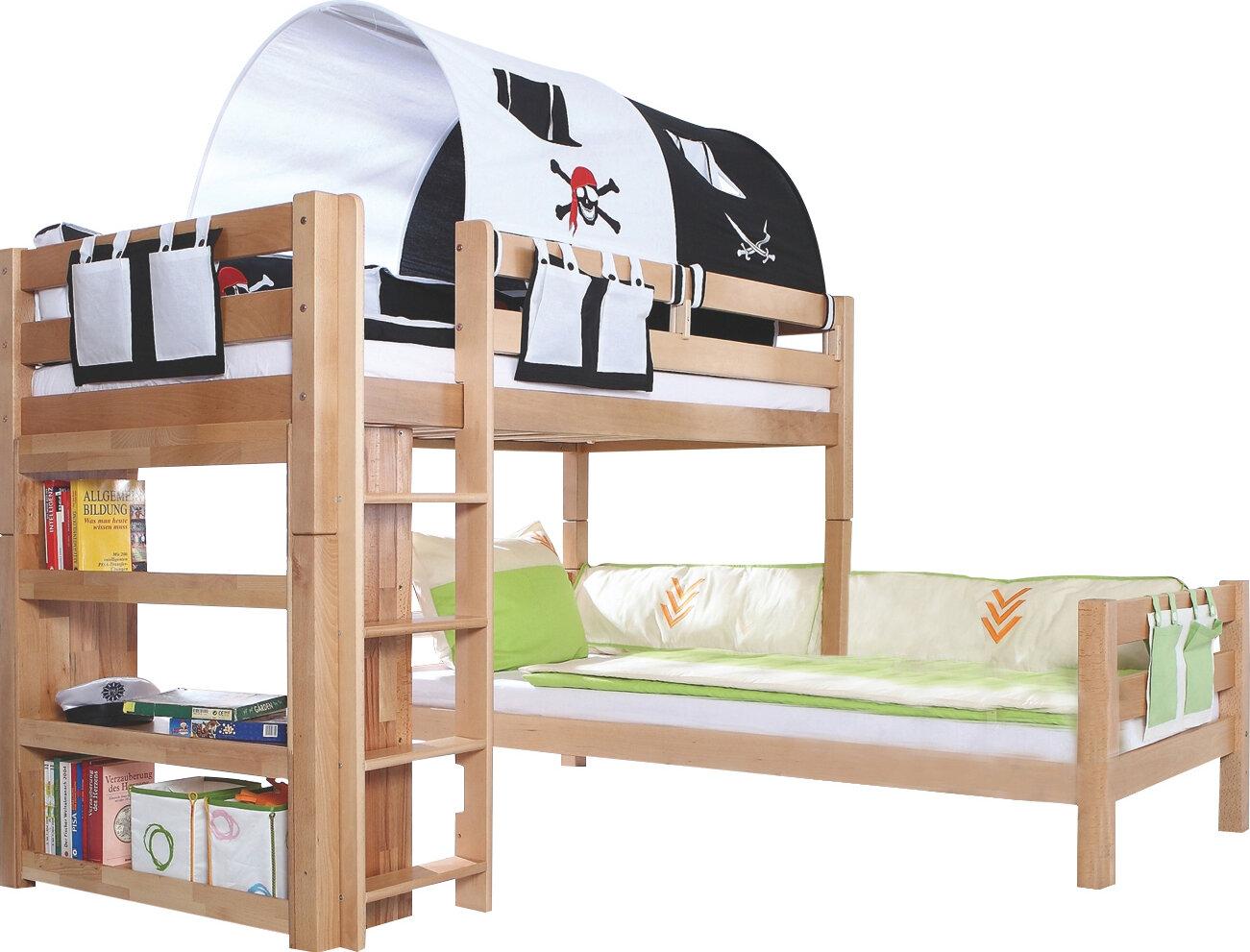 Etagenbett Gute Qualität : Etagenbett stockbett ricky natur klar lackiert buche massiv vollholz