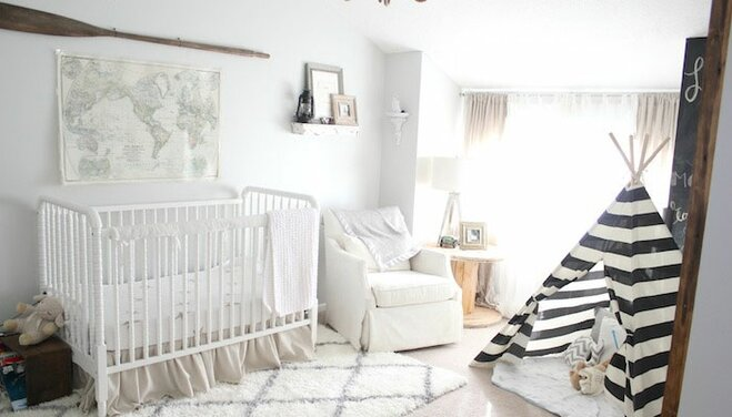 Bright Vintage Nautical Nursery