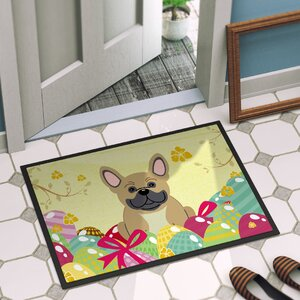Easter Eggs French Bulldog Indoor/Outdoor Doormat