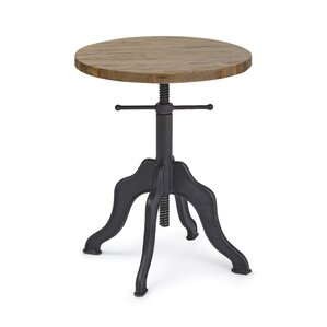 Superb Halifax Round Adjustable End Table