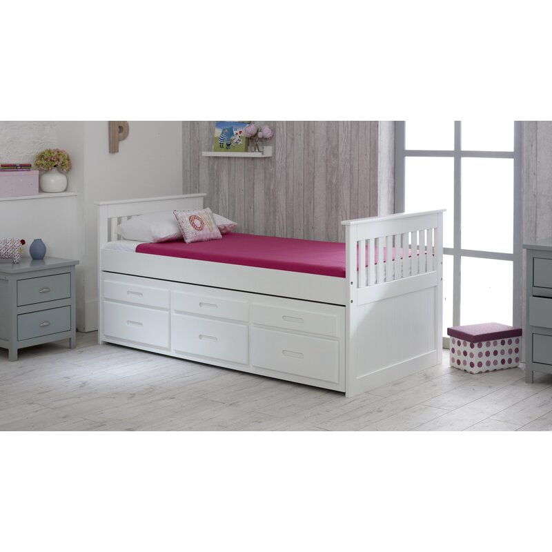 Just Kids Captains Single Bed Frame with Trundle and Storage ...