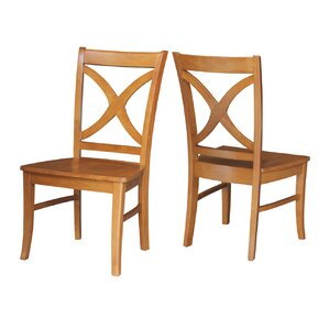 Redondo Solid Wood Dining Chair (Set of 2) by Loon Peak