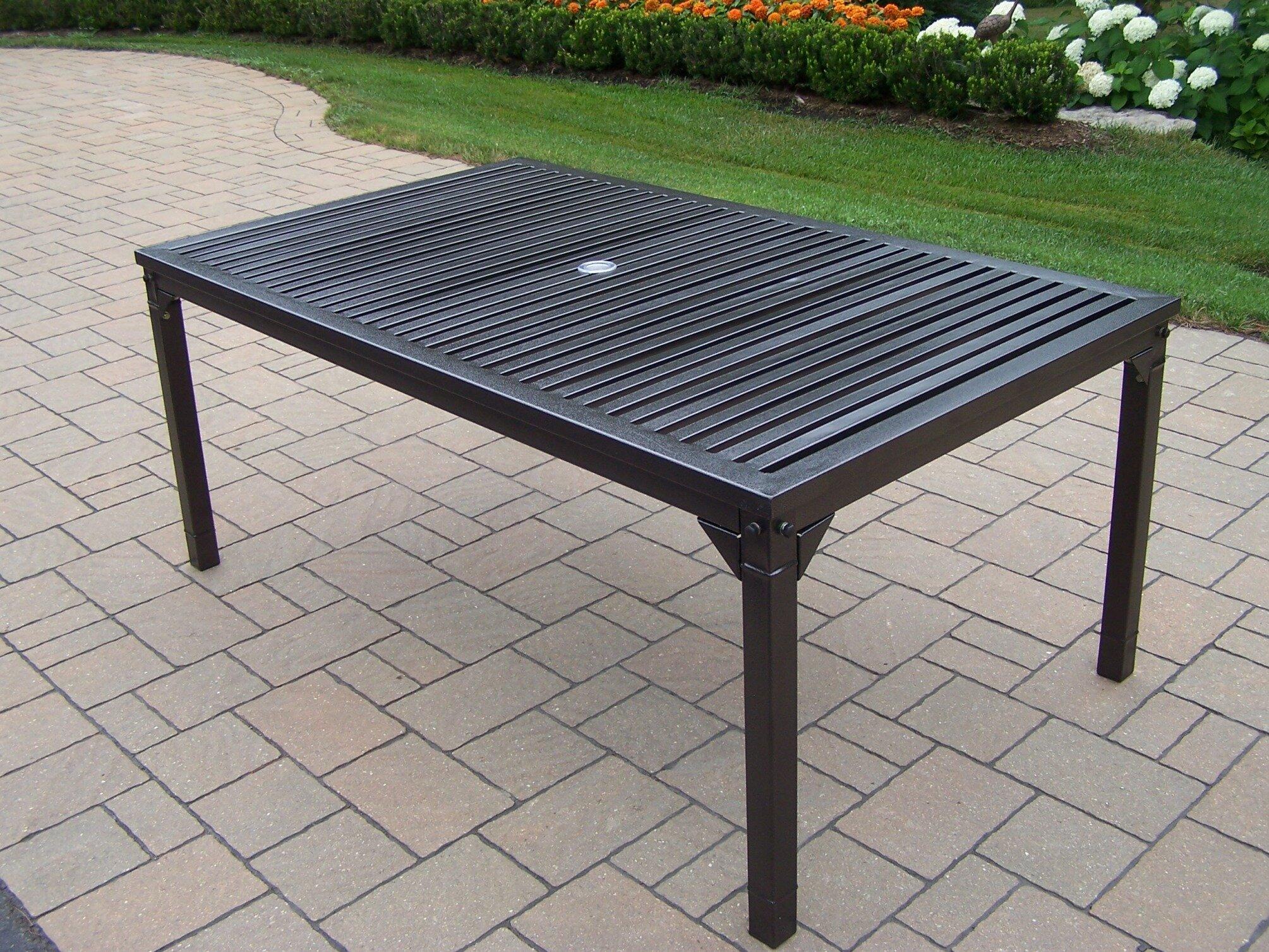 559c2df55c79 Oakland Living Rochester Iron Dining Table