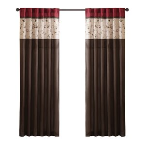 Brierwood Nature/Floral Room Darkening Rod Pocket Single Curtain Panel