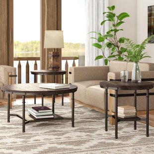 3 Piece Glass Coffee Table Set Wayfair