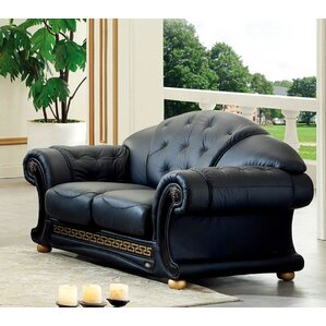 Noci Leather Loveseat by N..