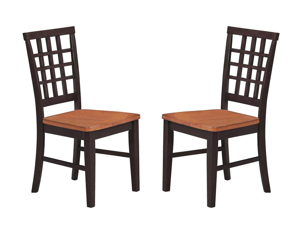 Arlington Lattice Back Solid Wood Dining Chair