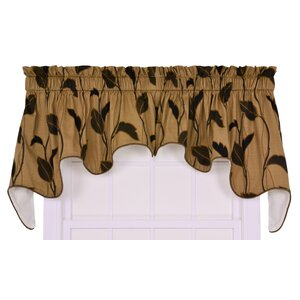 Gwendolyn Large Scale Leaf and Vine Lined Duchess 100″ Curtain Valance