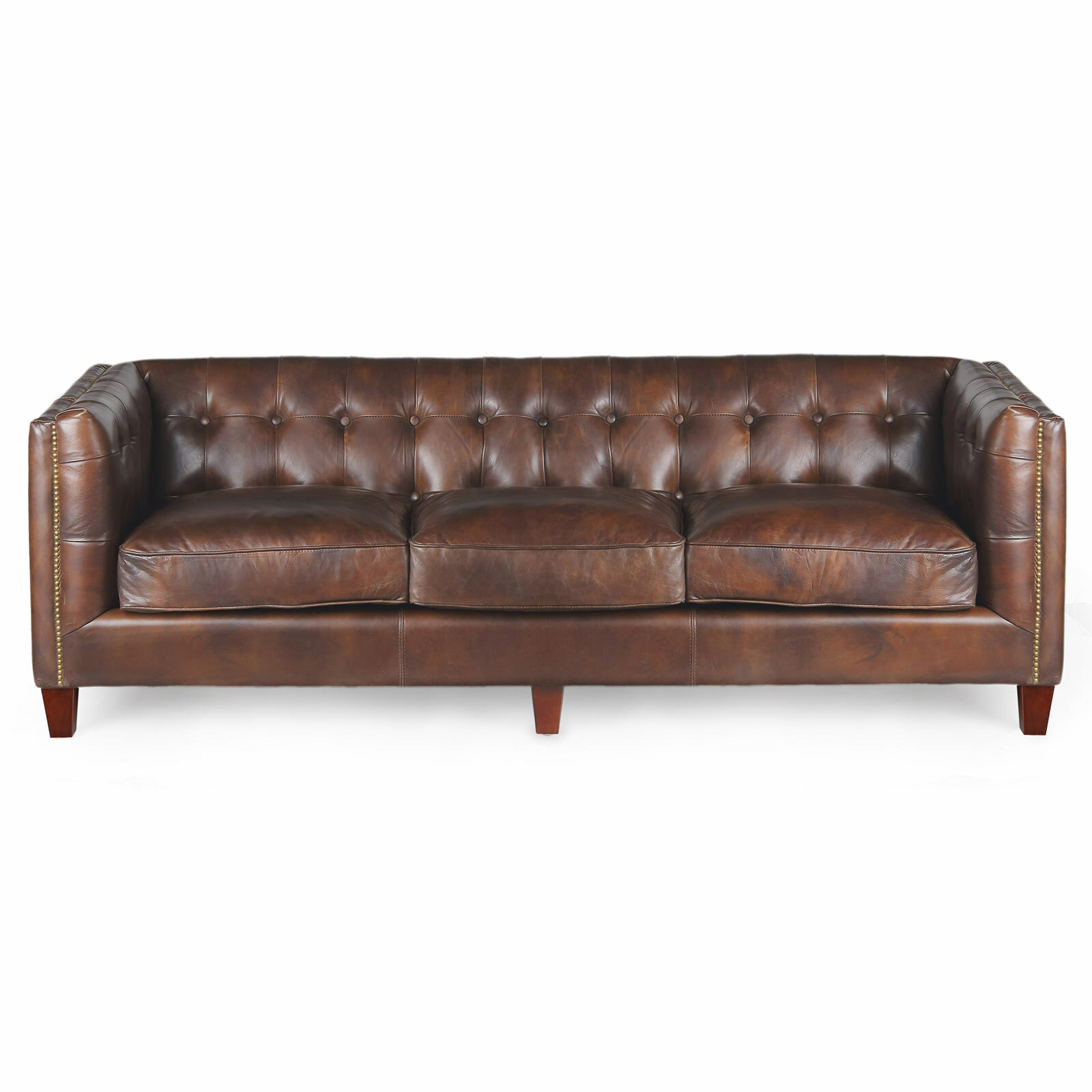 Joseph Allen Capetown Leather Chesterfield Sofa | Wayfair
