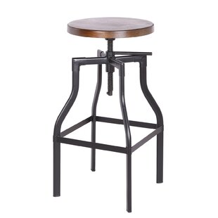 Sutton Metal Adjustable Height Swivel Bar Stool