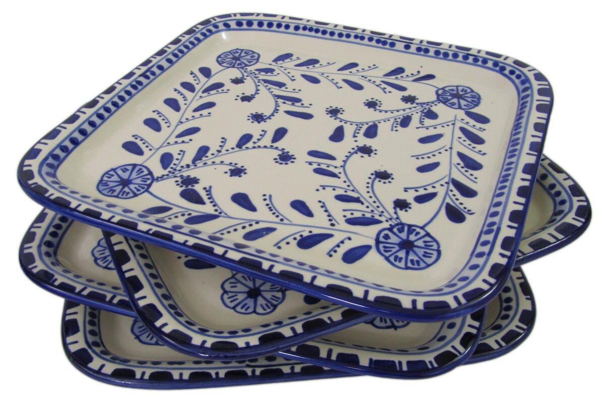 Azoura Square Stoneware 9\  Dinner Plate  sc 1 st  Wayfair & Le Souk Ceramique Azoura Square Stoneware 9\