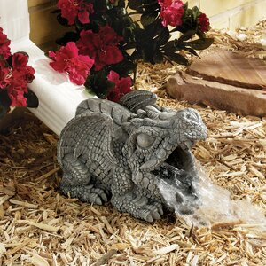 Darian the Dragon Gutter Guardian Downspout Statue