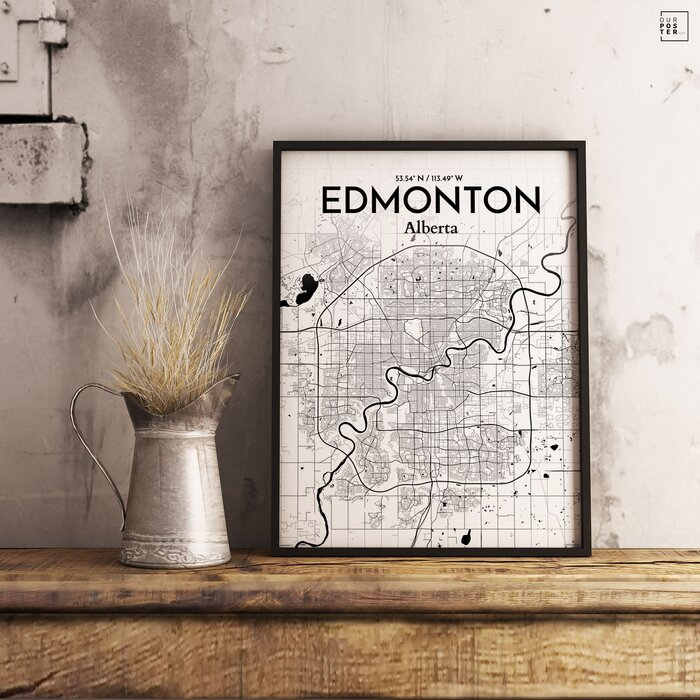 Ourposter edmonton city map graphic art print poster in ink edmonton city map graphic art print poster in ink gumiabroncs Choice Image