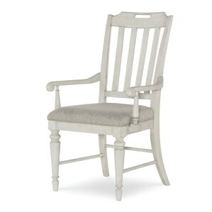 Ornithogale Slat Back Arm Chair (Set of 2..