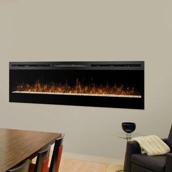 Wall Hanging Electric Fireplace dimplex galveston wall mount electric fireplace & reviews | wayfair