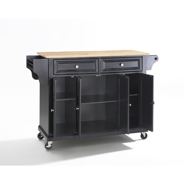 Pottstown Kitchen Cart With Granite Top