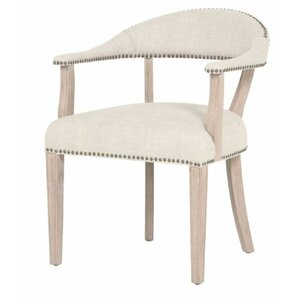 Ansel Arm Chair in Bisque French Linen by Orient Express Furniture
