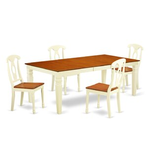 Beesley 5 Piece Solid Wood Dining Set