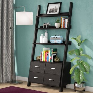 Berkman Dark Cappuccino Ladder Bookcase