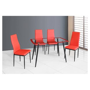 Linette 5 Piece Dining Table Set Cool