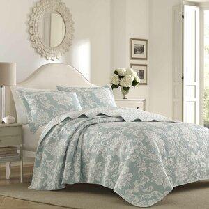 Venetia 100% Cotton Reversible Quilt Set by Laura Ashley Home