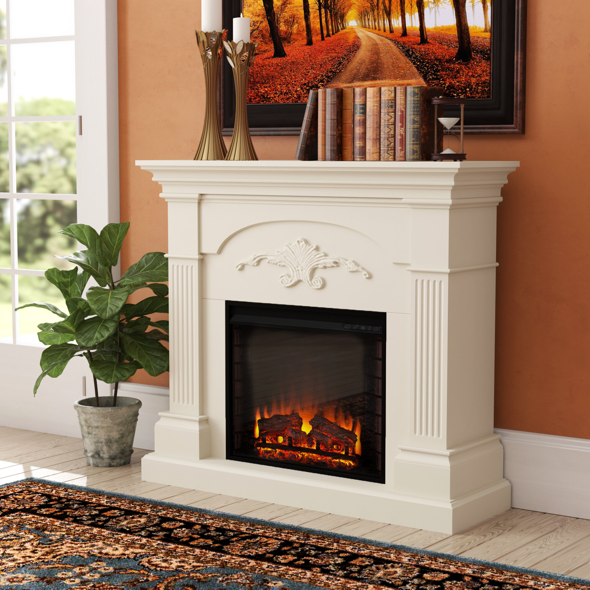 Stupendous Fake Fireplace Wayfair Interior Design Ideas Tzicisoteloinfo