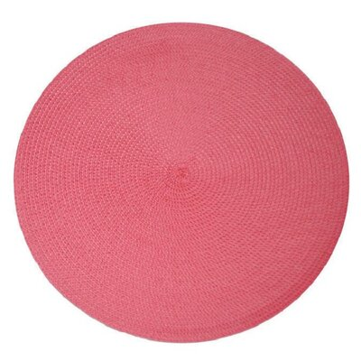 Birch Lane™ Heritage Round Braided Placemats Color: Bubblegum