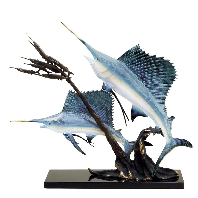 Sailfish Going After Ballyhood Figurine