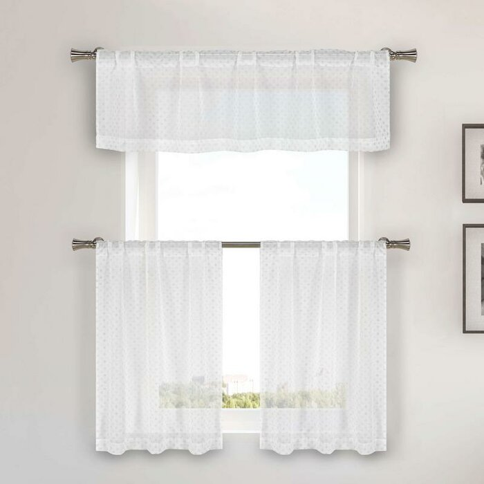 Grottke 3 Piece Kitchen Curtain Set