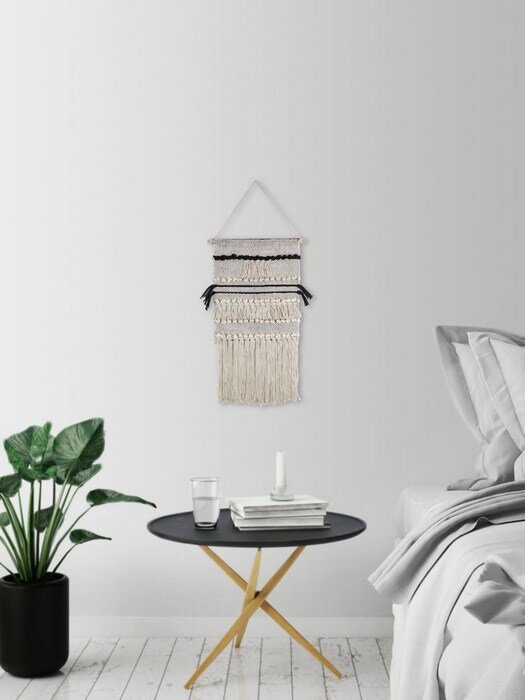 macrame wall hanging - Hanging End Tables