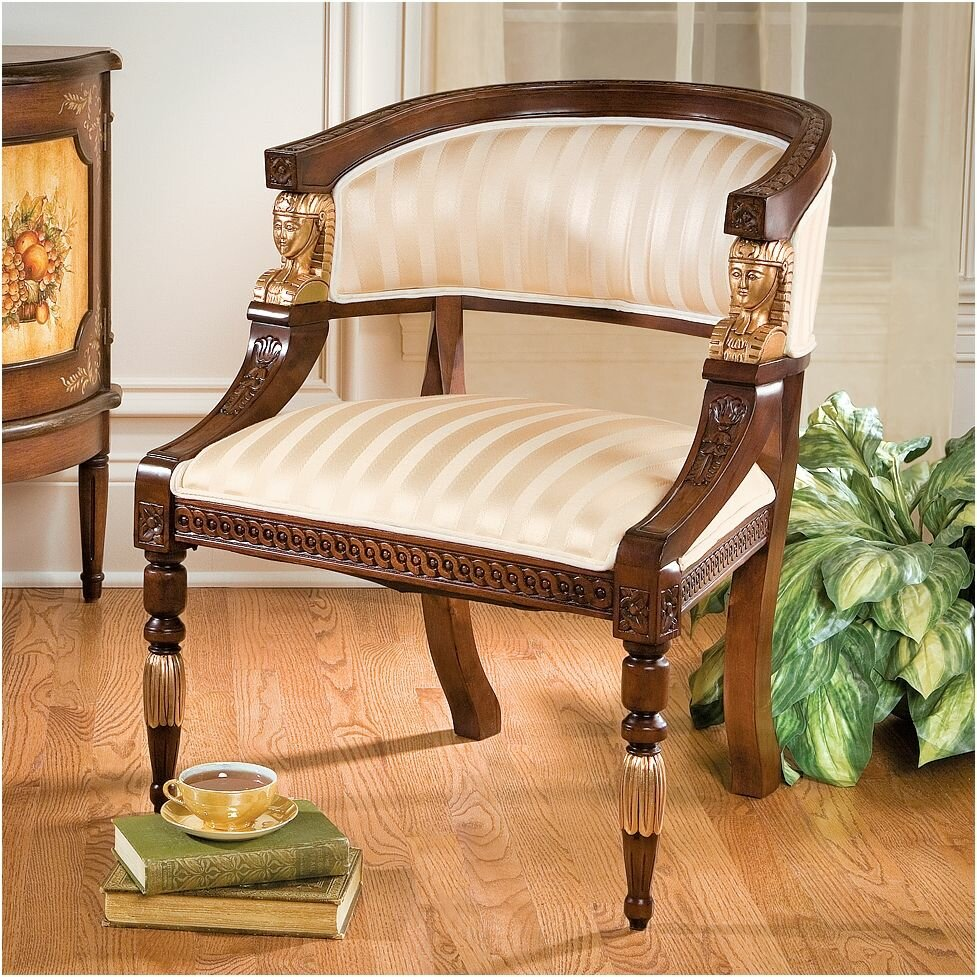 American Furniture Mall Of Egypt: Design Toscano Egyptian Revival Fabric Barrel Chair