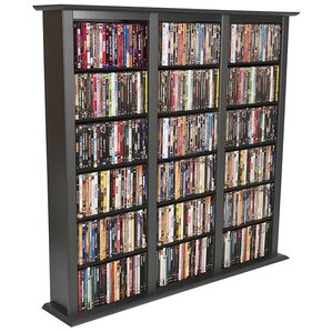 Regular Triple Multimedia Storage Rack by Rebrilliant