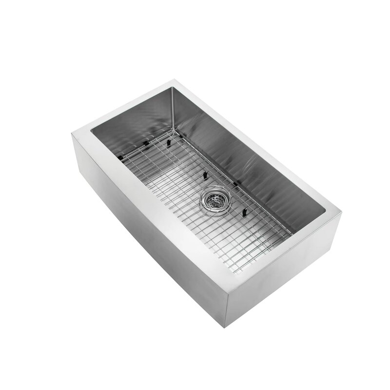 36 undermount stainless steel kitchen sink soleil 36 quot x 20 75 quot apron front single bowl undermount 8985