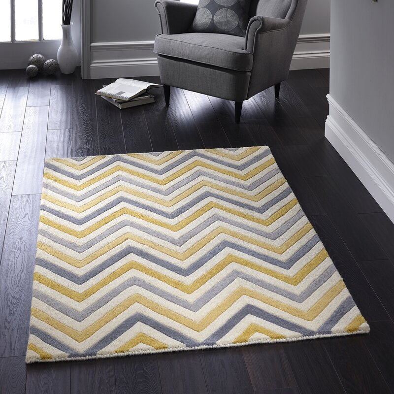 Eta Cabone Hand Tufted Yellow Grey Rug