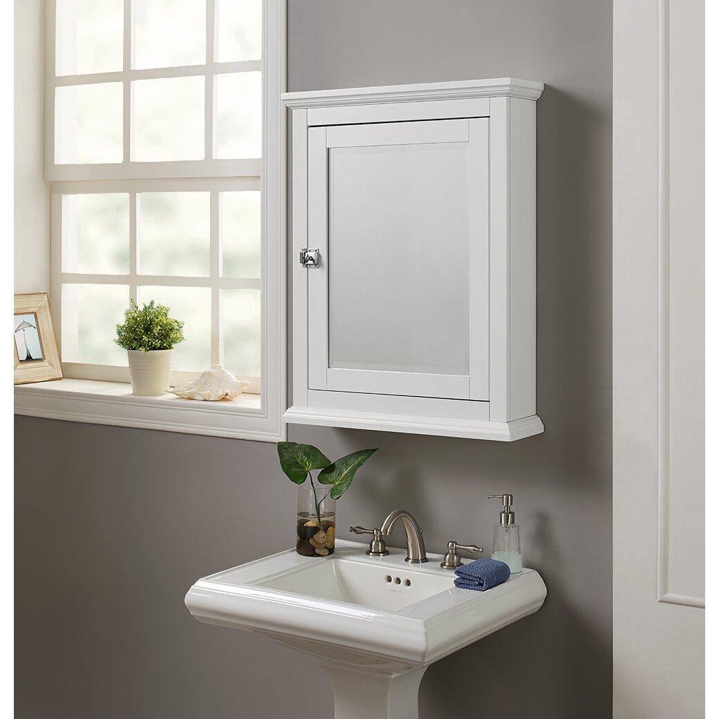 "Birch Lane™ Pennington 23.62"" X 30"" Surface Mounted Medicine Cabinet & Reviews"
