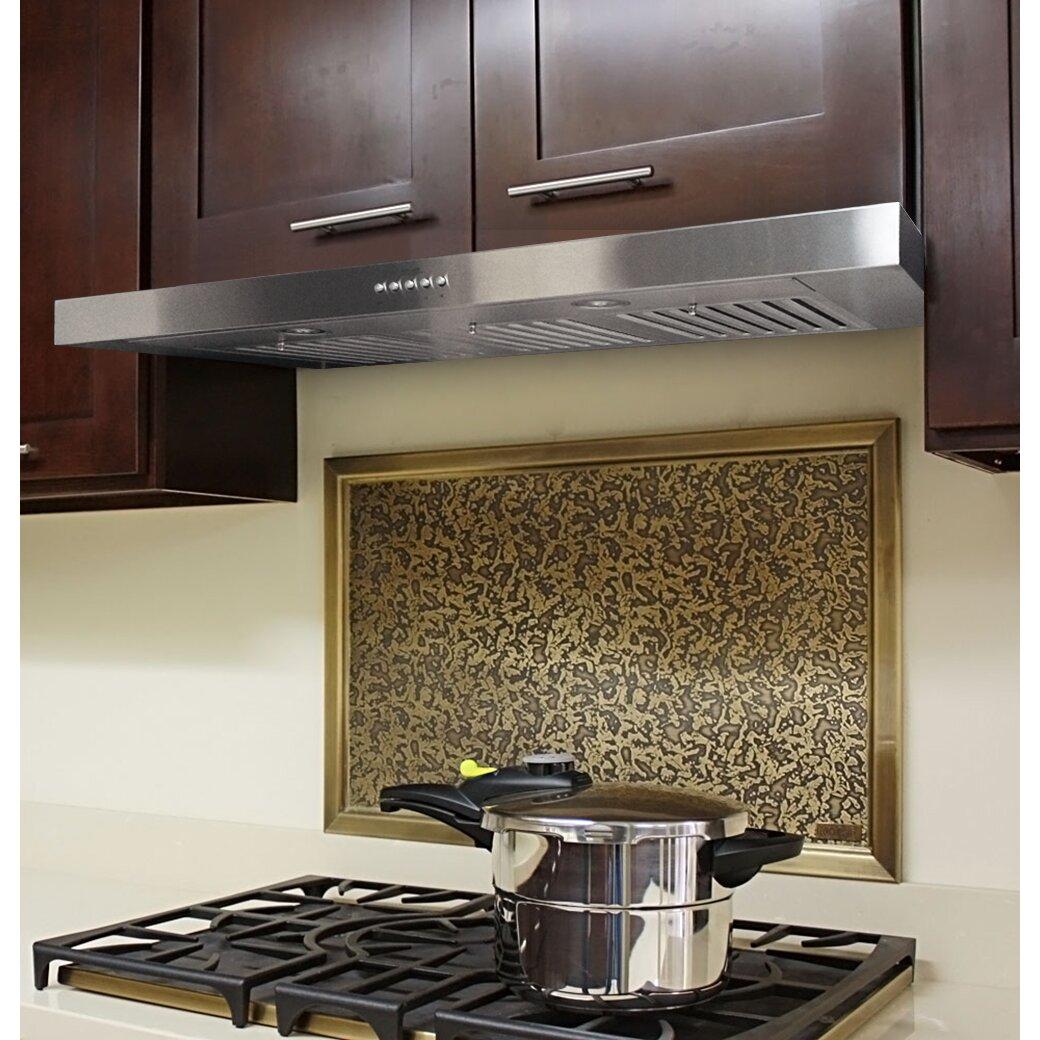 Cabinet Range Hood ~ Kobe range hoods quot brillia cfm ducted under cabinet