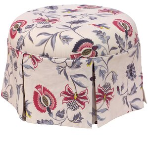 Donoghue Round Skirted Ottoman by Darby Home..
