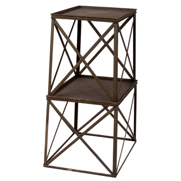 Winward Silks French Style Metal Square Multi Tiered
