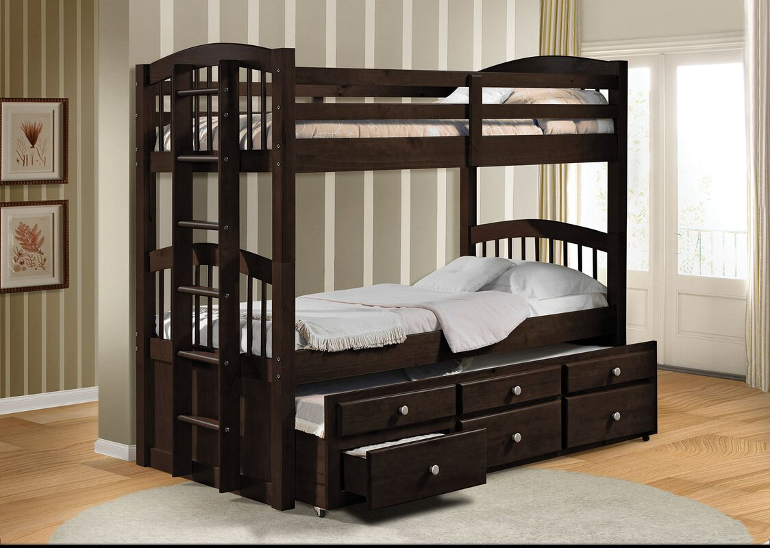micah twin bunk bed with 3 drawers